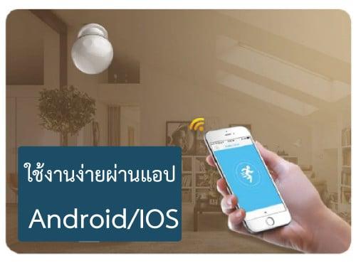 รองรับการใช้ผ่านกับ app android และ IOS